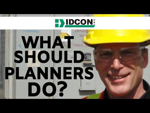 IDCON Work Management Planning and Scheduling Planners Role