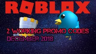 [Promo Code]2 codes promo de travail Décembre 2018 - Roblox