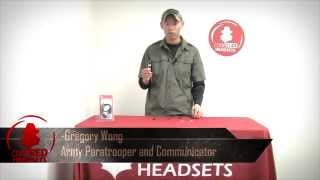 Recruit Surveillance Lapel Microphone for two-way radios