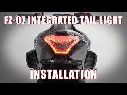 How to install Integrated Tail Light on a 2013+ Yamaha FZ-07 / MT-07 by TST Industries
