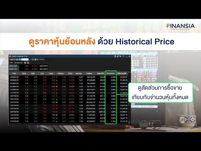 ดูราคาหุ้นย้อนหลัง ด้วย Historical Price