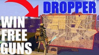 MASSIVE DROPPER MINIGAME!! *WIN FREE GUNS!! * - Fortnite