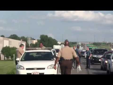 Protestors block Interstate 70 in St. Louis #Ferguson #MoralMonday Action
