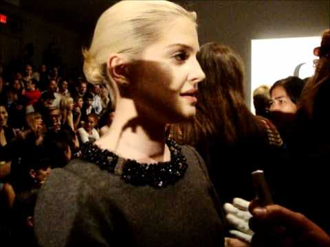Kelly Osbourne at Charlotte Ronson Pre show interview 2 MBFW NY SS 2012 Anastasia Lambrou