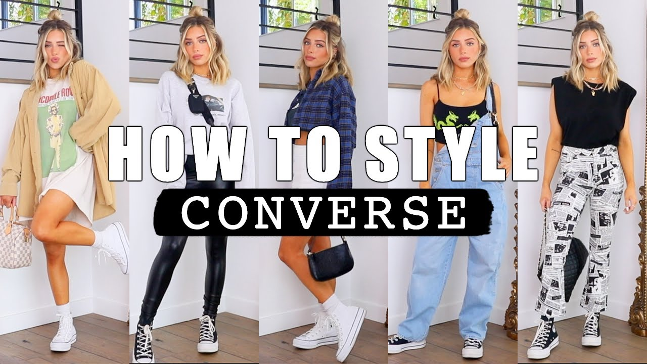 HOW TO STYLE CONVERSE | SWEATS, SKIRTS, BIKER SHORTS
