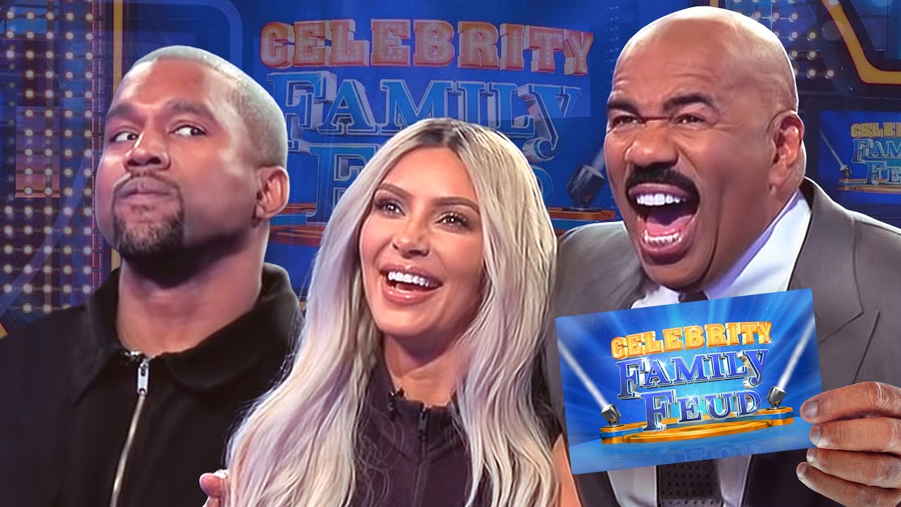 Download Kim & Kanye and the Kardashians Clash! All the CRAZIEST MOMENTS!!! | Celebrity Family Feud