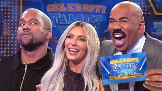 Download Kim & Kanye and the Kardashians Clash! All the CRAZIEST MOMENTS!!! | Celebrity Family Feud Mp3 and Videos