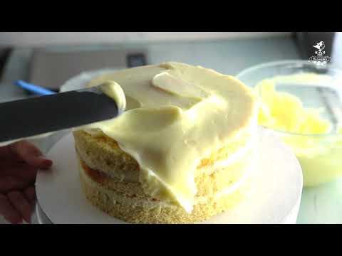 Выравниваем торт кремом шантифлекс, крем Chantyflex на торт.