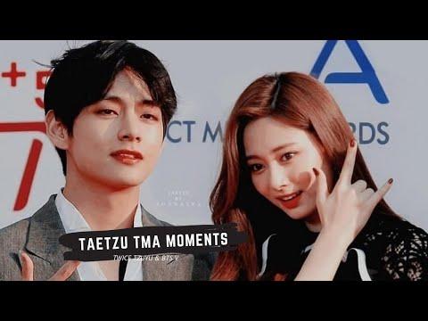 BTS V TAEHYUNG \u0026 TWICE TZUYU (TAETZU) MOMENTS AT THE FACT MUSIC AWARDS 2019 (TMA)