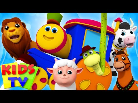 Animal Sound Song | Bob The Train | Song For Babies | Kindergarten Nursery Rhymes  For Toddlers