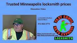 Trusted Minneapolis locksmith prices