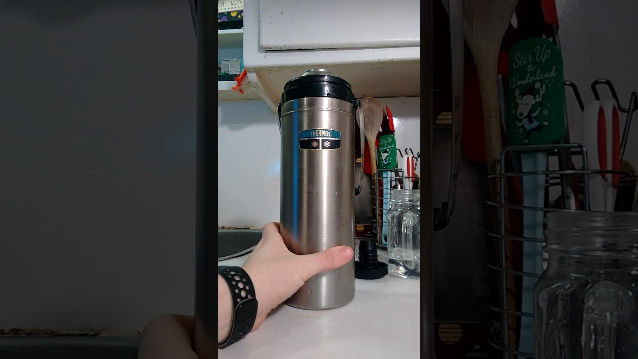 How to clean a stainless steel thermos from tea raid and smell 47