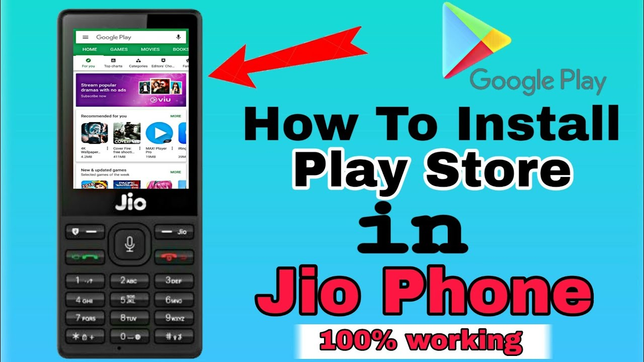 How To Download Google Play Store In Jio Phone Jio Phone