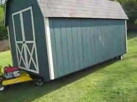 how to move a shed with a truck