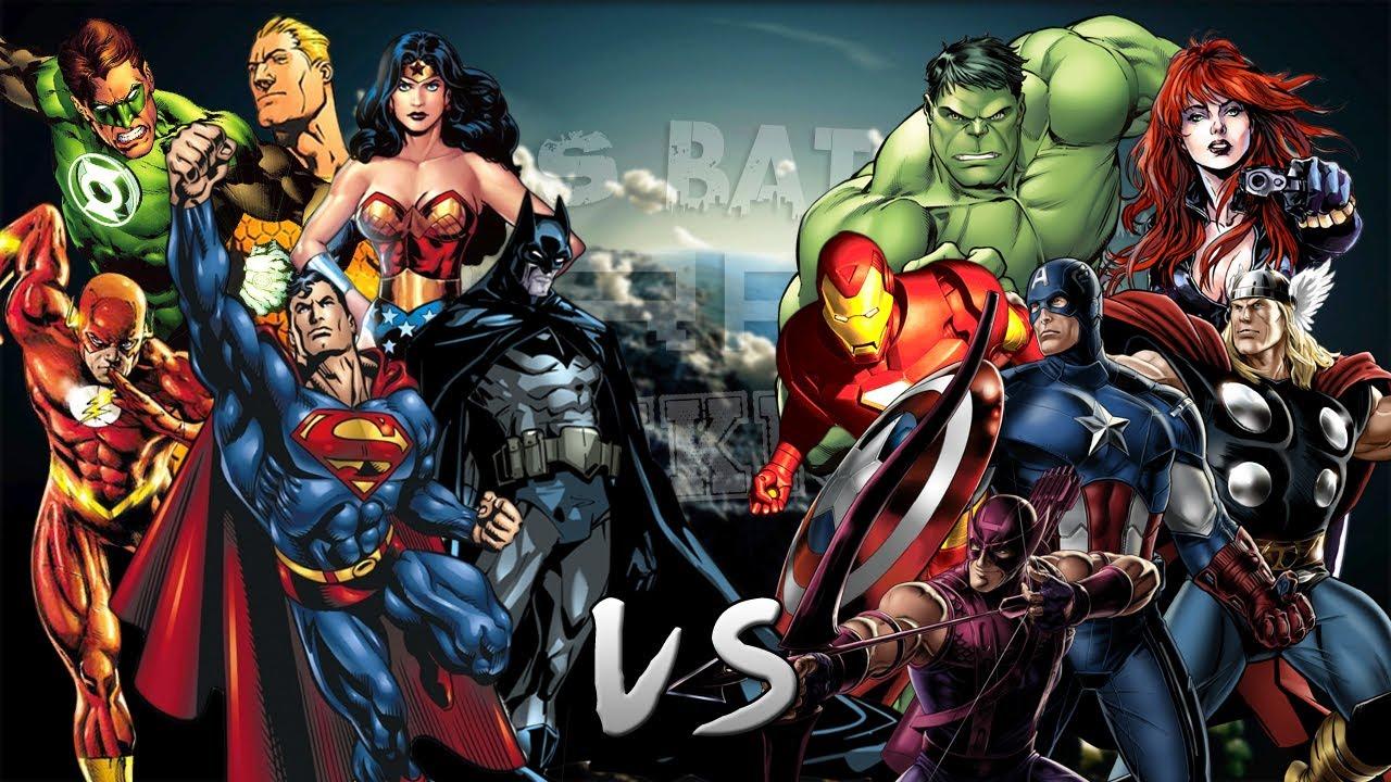 Los Vengadores Vs La Liga De La Justicia. Épica Batalla