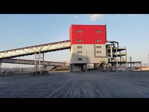 Ore Conveyor Industrial Zone  Stock Video