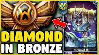 I TOOK MY NASUS INTO BRONZE FOR THE FIRST TIME! DIAMOND NASUS VS BRONZE ELO! - League of Legends