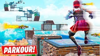 WORLDS MOST IMPOSSIBLE FORTNITE PARKOUR with MY LITTLE BROTHER!