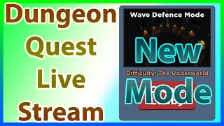 ROBLOX Dungeon Quest Live Stream | 2 Vip Servers | New Wave Defense Mode Update