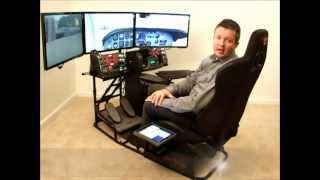 Volair Sim - Flight Simulation Cockpit Chassis Product Demo