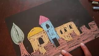 ציור ליום ירושלים מגירים
