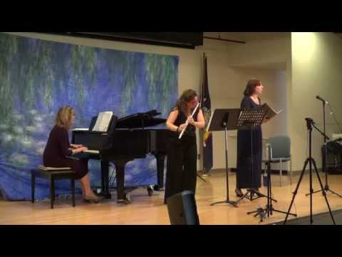 Elegy for voice, flute, and piano by Jules Massenet