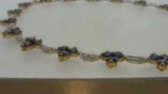 Kaulaketju safiireilla ja timanteilla
