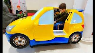 Alex Driving the Car * Power Wheels & Token Rides * Nursery Rhymes