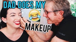 MY 75 YEAR OLD GRANDMA DOES MY MAKEUP