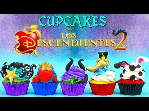 CUPCAKE DE LOS DESCENDIENTES 2 (UMA,EVIE,MAL,JAY Y CARLOS)