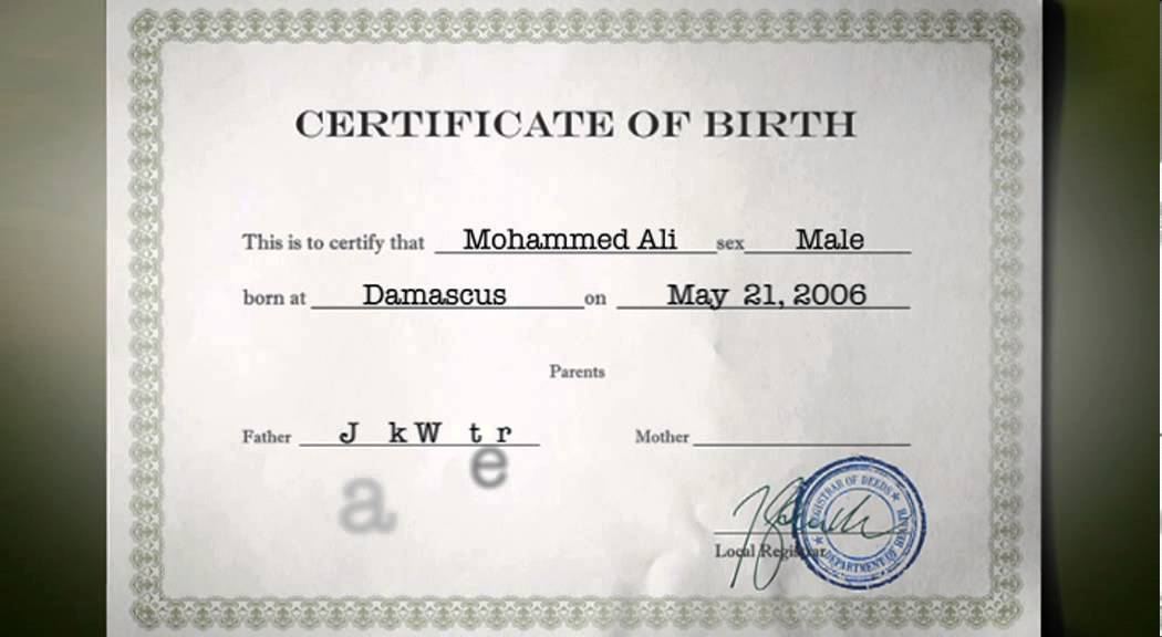 Changing Birth Certificate - Youtube