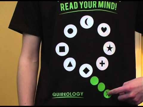 The World's First Mind Reading Tee Shirt!