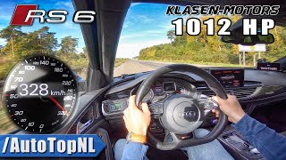 1012HP AUDI RS6 on AUTOBAHN 328km/h NO SPEED LIMIT by AutoTopNL