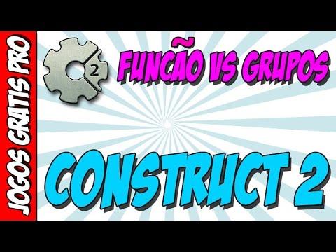 Funções vs Grupos no construct 2 - Como criar jogos online para celular e PC