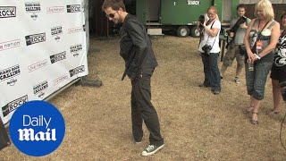 James Morrison moonwalks on the spot backstage in 2009 - Daily Mail