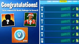 what happens when you COMPLETE ALL Weekly Challenges in Fortnite! (NEW Season 6 Rewards???)