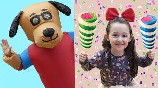 Öykü and new Friend Pretend Play Ice Cream Hause fun kid video
