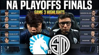 TL vs TSM Game 3 Highlights LCS Playoffs Final - Team Liquid vs Team SoloMid Game 3 Highlights LCS