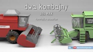 dwa kombajny - 3ds MAX turntable animation