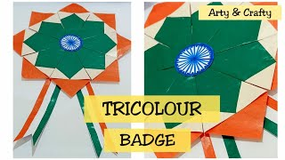 Independence Day Badge Craft Ideas for kids Indian Tricolor