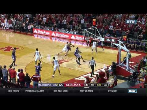 Northwestern at Nebraska - Men's Basketball Highlights