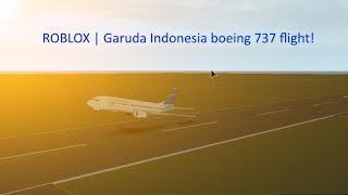 ROBLOX I (GI) Garuda Indonesia flight! Boeing 737 business class .