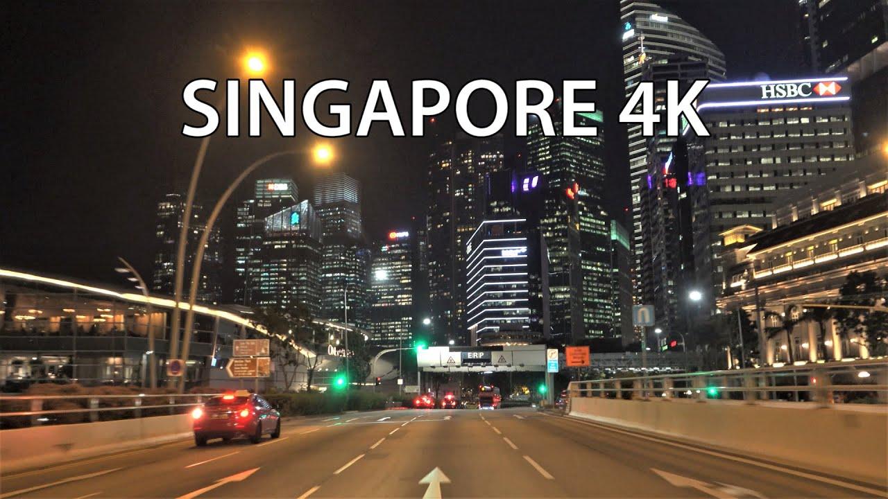 Singapore 4K - Night Drive - Driving Downtown