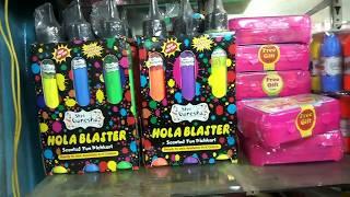 Cheapest Holi Market, Sadar Bazar | Herbal Gulal, Pichkari, Ballons, Bombs,Sprays | Wholesale Market
