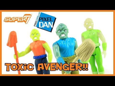 Toxic Avenger Super7 ReAction Figures Toxic Crusaders Troma Video Review