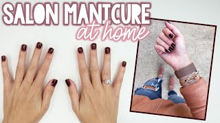 STEP-BY-STEP AT-HOME MANICURE TUTORIAL | Sarah Brithinee