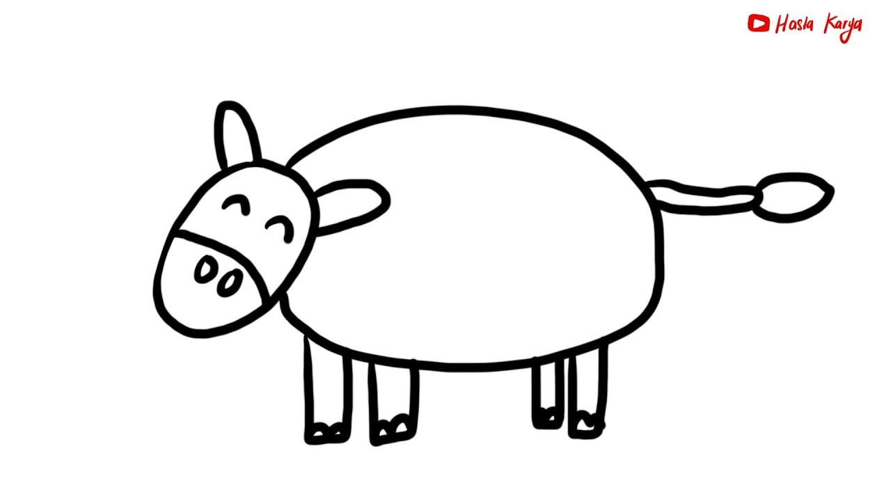 Menggambar Mewarnai Hewan Ternak Sapi Untuk Anak Youtube