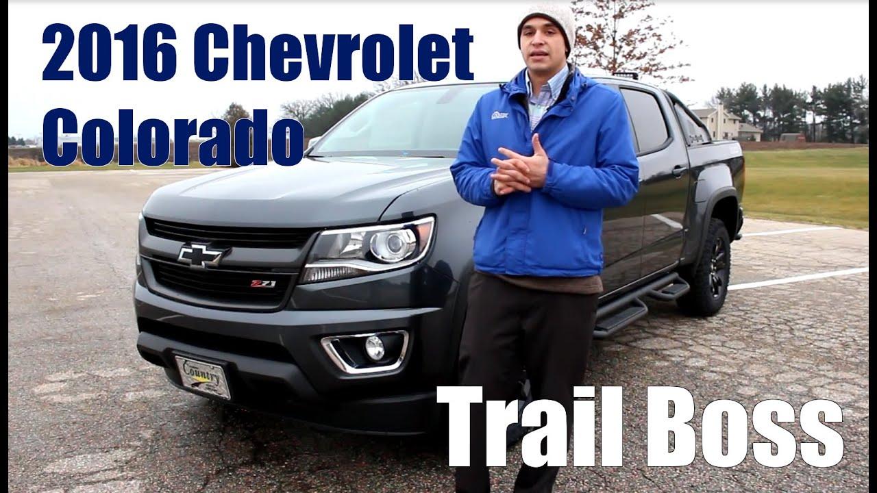Creative 2016 Chevrolet Colorado Offroad TRAIL BOSS Detailed Walkaround
