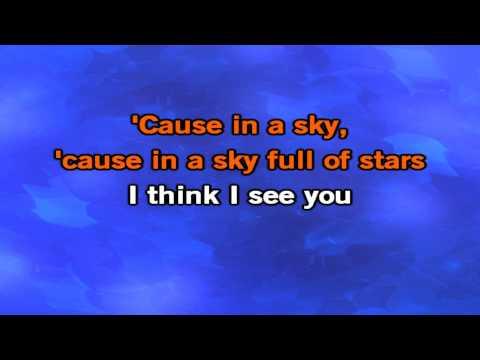 Coldplay- A Sky Full Of Stars Karaoke