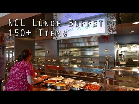 NCL Lunch Buffet 150+ Food Items from Garden Cafe